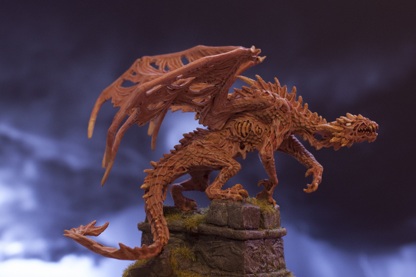 figurine dragon zombie, miniature zombi dragon