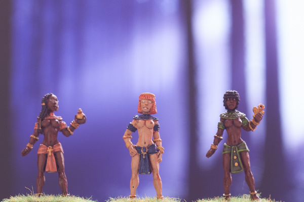 egyptian concubines, dark fable miniatures