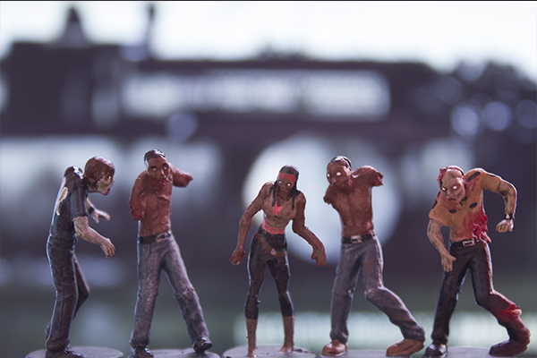 figurine zombie 15,the walking dead